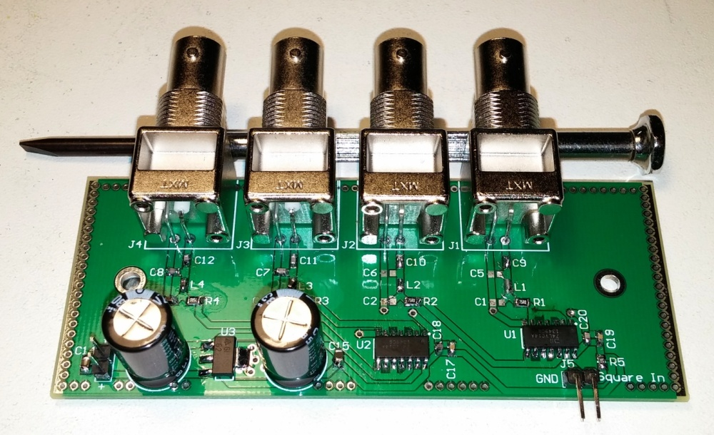 A cheap 4 way distribution amplifier for a GPSDO