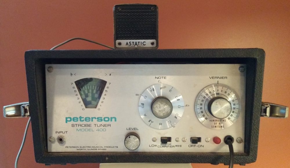 The Peterson Model 400 Tuner, as received