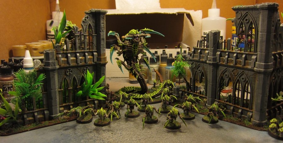 New infested jungle buildings, complete with Tyranid infestation