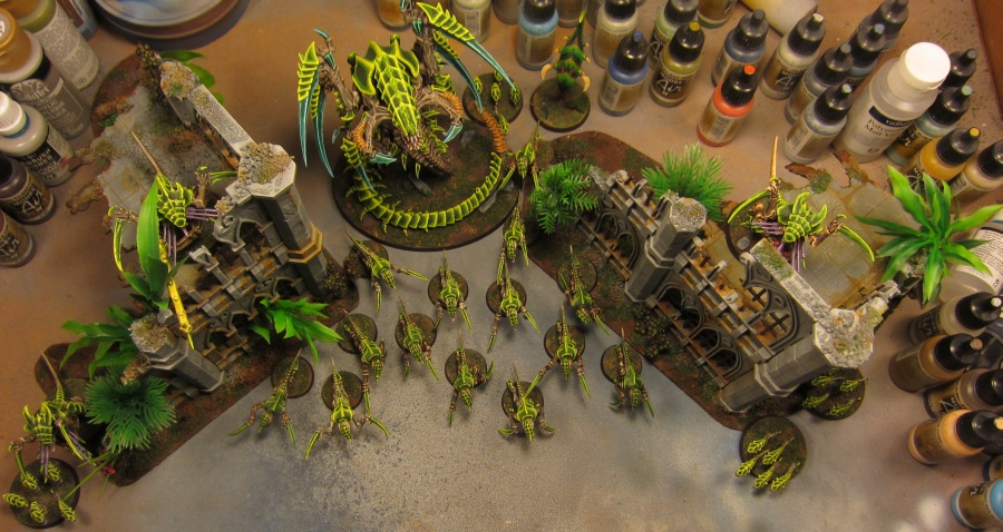 New infested jungle buildings, complete with Tyranid infestation, from the top