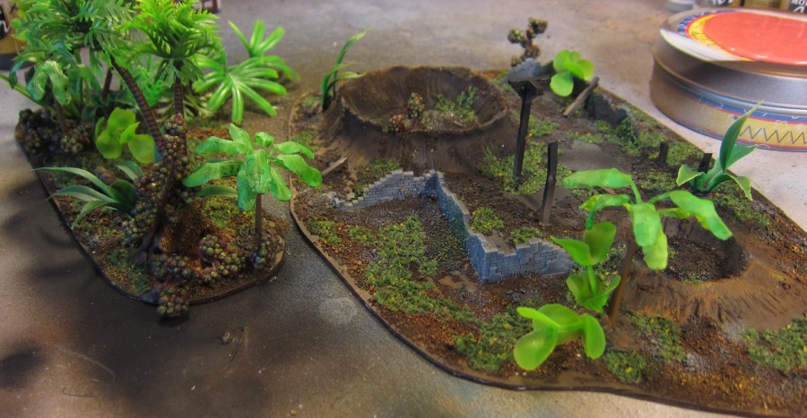 Two pieces of new jungle terrain